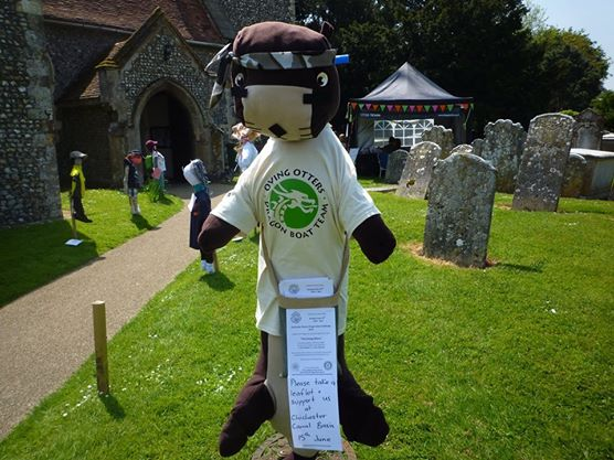Oscar the Otter - a not so scary entry into the Oving Scarecrow competition.