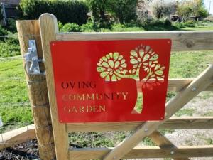 Oving Community Garden sign